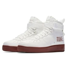 Nike Shoes - Nike SF Air Force 1 Mid Ivory/Mars Stone 917753-10